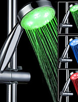 Gradually Flash Seven Colors ABS LED Color Changing Hand Shower