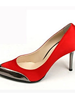 Women's Shoes Silk Stiletto Heel Heels Pumps/Heels Office & Career/Party & Evening/Dress Black/Red/White