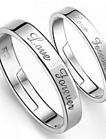 Couples'  Silver wedding Ring