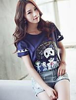 Women's Blue T-shirt Short Sleeve