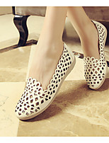 Women's Shoes  Flat Heel Pointed Toe Loafers Office & Career/Dress Black/White/Silver/Gold