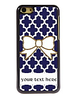 Personalized Gift Bowknot Design Aluminum Hard Case for iPhone 5C