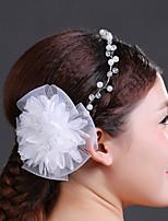 Kristallen/Imitatie Parel/Chiffon Vrouwen Helm Bruiloft/Speciale gelegenheden Hoofdbanden/Bloemen Bruiloft/Speciale gelegenheden 1 Stuk