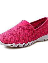 Mujer Zapatos de taco bajo y Slip-Ons Confort Suelas con luz Tul Primavera Verano Otoño Exterior Informal Deporte Paseo Tacón Plano