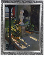 William de Leftwich Dodge,Venus in Atrium Framed Canvas Print