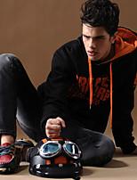 Sets Activewear Uomo Casual/Da ufficio/Attività sportive/Taglie forti Con stampe/Tinta unita Manica lunga Cotone/Microfibra