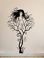Wall Stickers Wall Decals , Branch Girl PVC Wall Stickers