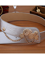Women Fashion National Wind Belt Party/Casual Leather Faux Leather Wide Belt