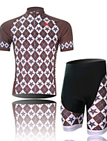 Xingge Brown Jersey Short Suit, Moisture Cycling Wear, Motor Function Material