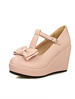 Women's Shoes Synthetic Wedge Heel Heels/Basic Pump Pumps/Heels Office & Career/Dress/Casual Black/Pink/White/Beige