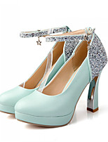 Women's Shoes Synthetic Stiletto Heel Heels/Basic Pump Pumps/Heels Office & Career/Dress/Casual Blue/Pink/White