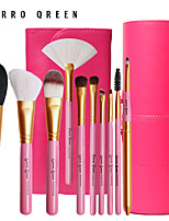 10 Natural Animal Hair Cerro Qreen Makeup Brush Set Up A Set Of Brush Christmas + Brush Tube Parts Mail