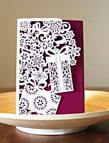 1pcs 3 Colors Laser Cut Gift Box Christmas Greeting Card Party Invitaion Card Christmas Tree Decoration