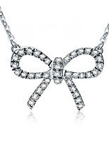 925 Butterfly Pendant Fixed SONA Simulate Diamond Female Pendant Sterling Silver Necklace 18inches 18K White Gold Plated