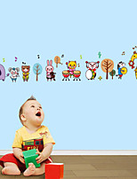 Wall Stickers Wall Decals Style Animal Band PVC Wall Stickers