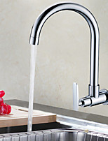 Shengbaier Contemporary Chrome Finish Brass Kitchen Faucet