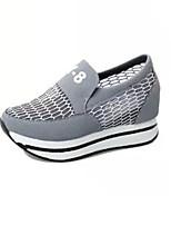 Zapatos de mujer Tul Tacón Plano Comfort/Punta Redonda Sneakers a la Moda Exterior/Casual Negro/Rojo/Gris