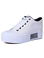 Zapatos de mujer Tejido Tacón Cuña Comfort/Punta Redonda Sneakers a la Moda Exterior/Oficina y Trabajo/Casual Negro/Azul/Rojo/Blanco