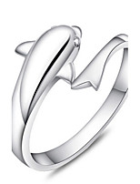 Women's Adjustable Dolphin Silver Ring
