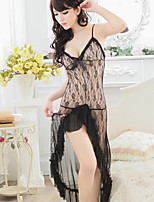 Sexy lace hollow transparent long split temptation at 3 o 'clock the harness gauze skirt suit two piece
