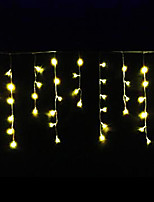 4W 3 Meter Long 100pcs LED String Light with AC110-220V Input PVC Transparent, Warm White Color