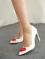 Women's Shoes Synthetic Stiletto Heel Heels/Basic Pump Pumps/Heels Office & Career/Dress/Casual Black/Red/White