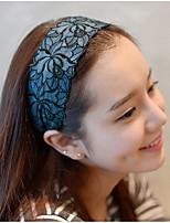Flowers Pattern Printing Delicate Embroidery Lace Fabric Chiffon Headband