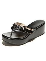 Women's Shoes Wedge Heel Wedges/Slingback Sandals Dress Black/White