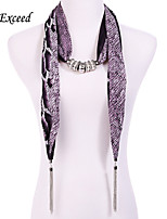 D Exceed  Ladies New European Personality Serpentine Print Long Chiffon Scarves Necklace with Tassel Scarf