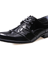 Men's Oxfords Spring Fall PU Wedding Office & Career Casual Party & Evening Flat Heel Lace-up White Black