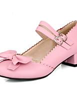 Women's Shoes Faux Low Heel Round Toe/Closed Toe Pumps/Heels