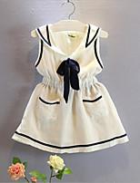 Child Sleeveless Navy Dress