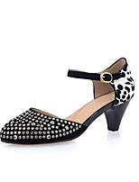 Women's Shoes Leather Kitten Heel Round Toe Pumps Dress More Colors Available