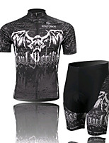 Evil Skull Cycling Wear Short Sleeved Suit, Moisture Cycling Wear, Motor Function Material