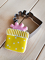 corte forma de la caja de regalo cortadores de galletas de frutas moldes de acero inoxidable