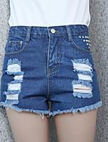 Women's Casual/Bodycon Holes Short Demin Pants (Cotton / Demin)