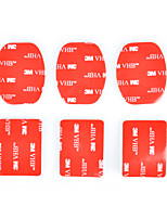3M Sticker Set Adhesive Tape(3pcs for flat, 3pcs for arc mount) for Gopro Hero 4/3+/3/2/1/sj4000/sj5000/sj6000