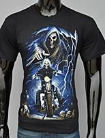 Men's Work/Formal/Sport Print/Pure Short Sleeve Regular T-Shirt (Cashmere/Cotton/Knitwear/Lycra/Wool/Wool Blend)