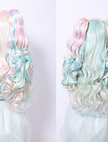 Anime Cosplay Wig Synthetic Multicolored Wig