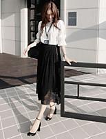 Women's White/Black Shirt ½ Length Sleeve