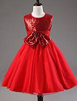 Girl's Summer Sleeveless Sequins Dresses(Cotton Blends)