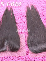 1PC 4x4 Size 130% Density Brazilian Closure Straight Hair Middle Parting Free Shipping MS Lula Hair Virgin Human Hair