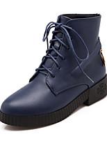 Damesschoenen - Formeel / Casual - Zwart / Rood / Wit / Marine - Blokhak - Ronde neus / Modieuze laarzen - Laarzen - Kunstleer