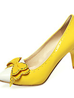 Women's Shoes  Stiletto Heel Round Toe Pumps/Heels Outdoor/Office & Career/Casual Black/Yellow/Red/White