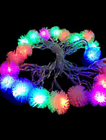 2W 4 Meter Outer Diameter 20pcs Bulb LED Modeling String Lighting Plush Lights, RGB Color