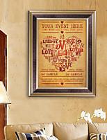 E-HOME® Framed Canvas Art, Letter Framed Canvas Print