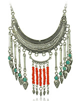 European and American Fashion and Personality of Carve Patterns Alloy of Long Tassel Necklaces