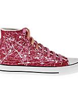 Zapatos de mujer - Tacón Plano - Comfort - Sneakers a la Moda / Zapatos de Deporte - Exterior / Casual / Deporte - Tela - Rojo