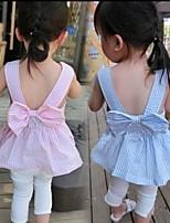 Baby Stripe Bow Sleeveless Vest Dress