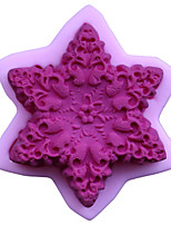 Bakeware Silicone Hexagonal Flower Fondant Mold Cake Decoration Mold